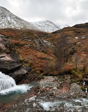 Waterfalls in the Glencoe valley