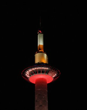 Night walk near Kyoto Tower